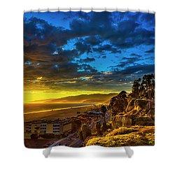 Santa Monica Bay Sunset - 10.1.18 # 1 Shower Curtain