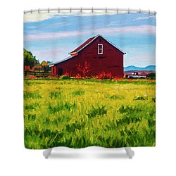 Skagit Valley Barn #4 Shower Curtain