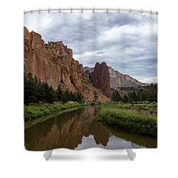 Smith Rock Reflections Shower Curtain