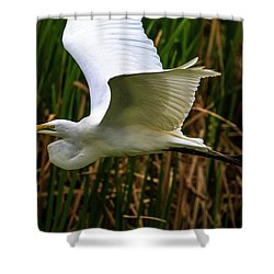 Snow White In Flight Shower Curtain