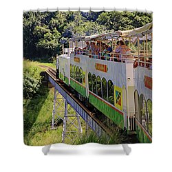 Shower Curtain featuring the photograph St Kitts Railway by Tony Murtagh