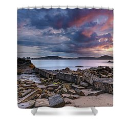 Stormy Sunrise Seascape Shower Curtain