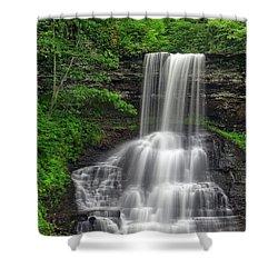 Summer Cascades Shower Curtain