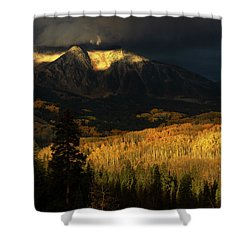 The Golden Light Shower Curtain