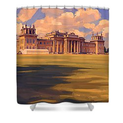 The White Party Tent Along Blenheim Palace Shower Curtain