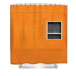Very Orange Wall Shower Curtain