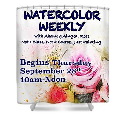 Watercolor Weekly Shower Curtain