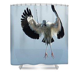 Woodstork Nesting Shower Curtain
