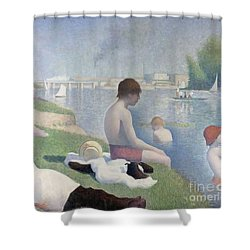 Bathers At Asnieres Shower Curtain