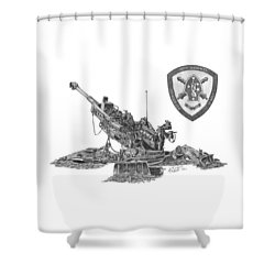 10th Marines 777 Shower Curtain