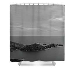 Dawn In Black And White In The Cap De Creus Shower Curtain