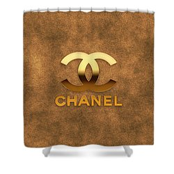 Coco Chanellogo Shower Curtain