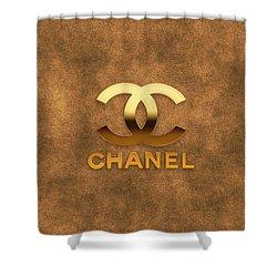 Coco Chanellogo Shower Curtain