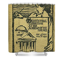 1894-95 Catalogue Of The Architectural Exhibition At The Pennsylvania Academy Of The Fine Arts Shower Curtain