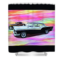 1932 And 1957 Fords Shower Curtain