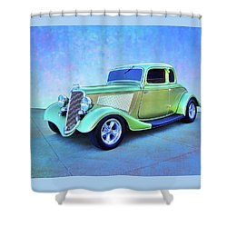 1934 Green Ford Shower Curtain
