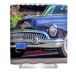 1953 Buick Skylark - Chrome And Grill Shower Curtain