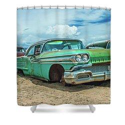1958 Oldsmobile Super 88 Shower Curtain