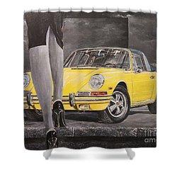1968 Porsche 911 Targa Shower Curtain