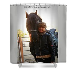 A Match Made In Heaven Shower Curtain