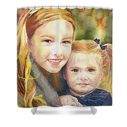 Belle And Maddie Shower Curtain