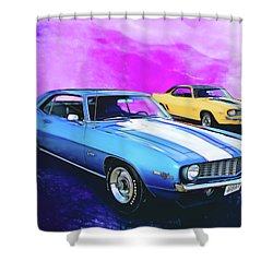 2 Camaros Shower Curtain