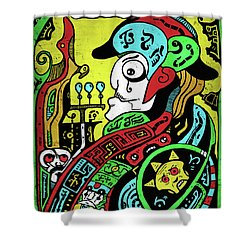 Shower Curtain featuring the digital art Emperor by Sotuland Art