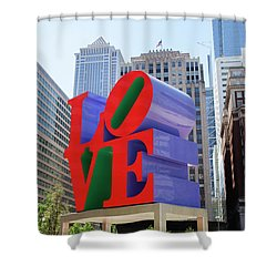 Shower Curtain featuring the photograph Love In The City - Philadelphia by Bill Cannon
