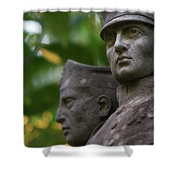Shower Curtain featuring the photograph Monument To The Duchess Of Victory Genoves Park Cadiz Spain by Pablo Avanzini