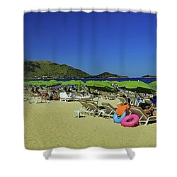 Shower Curtain featuring the photograph On The Beach by Tony Murtagh