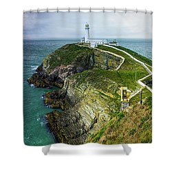 South Stack Lighthouse Shower Curtain