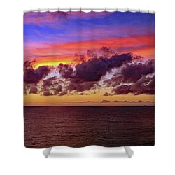 Shower Curtain featuring the photograph Sunset by Tony Murtagh