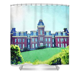 Woodburn Hall At West Virginia University In Morgantown Wv Shower Curtain