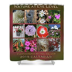 2019 Nature Calendar Shower Curtain