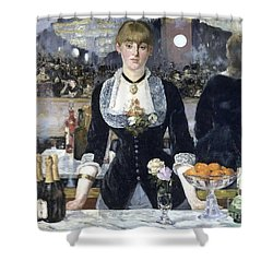 A Bar At The Folies Bergere Shower Curtain