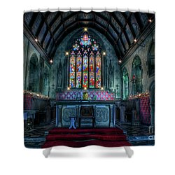 Christmas Church Shower Curtain