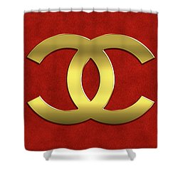 Coco Chanel Logo Shower Curtain
