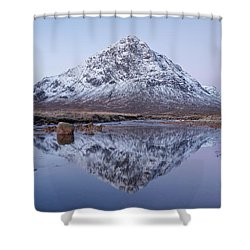 Shower Curtain featuring the photograph Dawn In Glencoe by Stephen Taylor