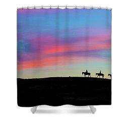 3 Horsemen Shower Curtain
