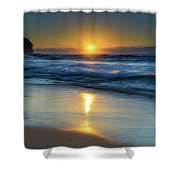 Sunrise Lights Up The Sea Shower Curtain