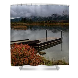 Vermillion Lakes, Banff National Park, Alberta, Canada Shower Curtain