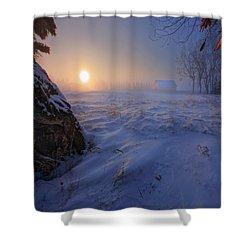 -30 Celsius Shower Curtain