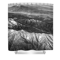 35,000 Feet Over Utah Shower Curtain