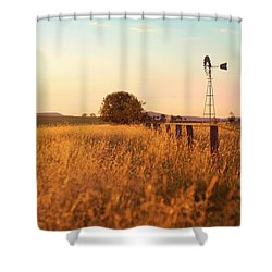 Shower Curtain featuring the photograph Australian Windmill In The Countryside by Rob D