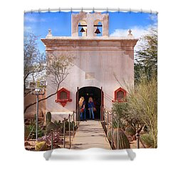 San Xavier Del Bac Az Shower Curtain