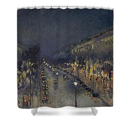 The Boulevard Montmartre At Night Shower Curtain
