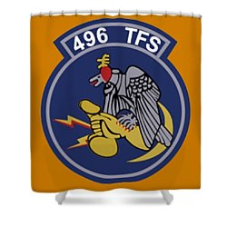 496th Tactical Fighter Squadron  Shower Curtain