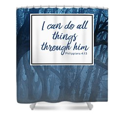 Inspirational Religious Quotes  Shower Curtain