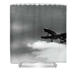 A-10 Slow Pass Shower Curtain