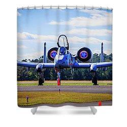 Shower Curtain featuring the photograph A-10c Thunderbolt II by Doug Camara